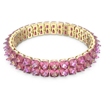 Chroma Halsband, Spike-Kristalle, Rosa, Goldlegierung - Swarovski, 5600620
