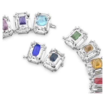 Choker Chroma, Cristale supradimensionate, Multicoloră, Placat cu rodiu - Swarovski, 5600626