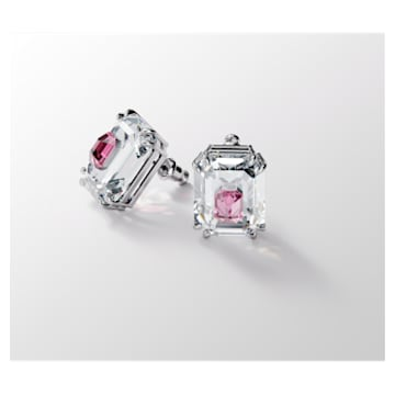 Chroma Earrings, Pink, Rhodium plated - Swarovski, 5600627