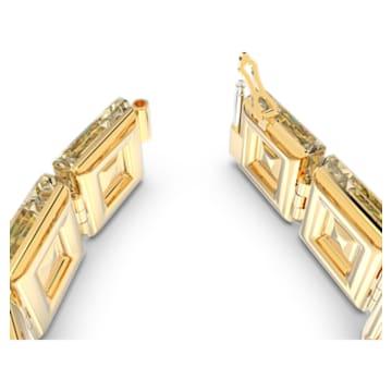 Chroma armband , Kristallen met cushion-slijpvorm, Geel, Goudkleurige toplaag - Swarovski, 5600669