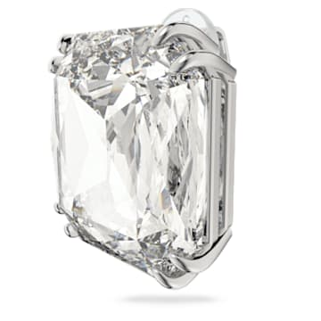 Mesmera 夹式耳环, 单个, 正方形切割仿水晶, 白色, 镀铑 - Swarovski, 5600756
