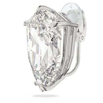 Mesmera 夹式耳环, 三棱形切割仿水晶, 白色, 镀铑 - Swarovski, 5600758