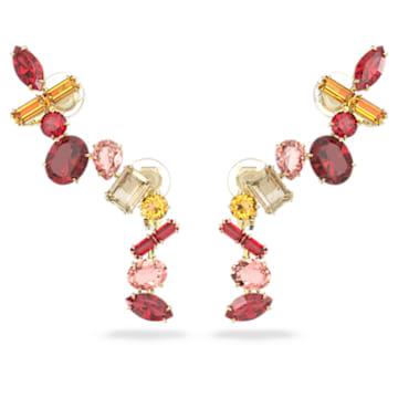Pendientes de clip Gema, Multicolor, Baño tono oro - Swarovski, 5600762