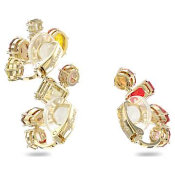 Gema clip earring, Single, Set, White, Gold-tone plated - Swarovski, 5600763