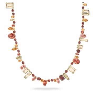 Collar Gema, Extralargo, Multicolor, Baño tono oro - Swarovski, 5600764