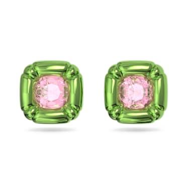 Dulcis 耳钉, 枕形切割仿水晶, 绿色 - Swarovski, 5600778