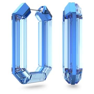 Lucent hoop earrings, Blue, Rhodium plated - Swarovski, 5600788