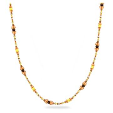 Colar Somnia, Extra compridos, Castanho, Lacado a dourado - Swarovski, 5600790