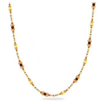 Somnia 项链, 超长, 咖啡色, 镀金色调 - Swarovski, 5600790