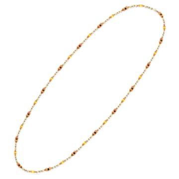 Somnia ketting, Extra lang, Bruin, Goudkleurige toplaag - Swarovski, 5600790
