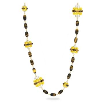 Colar Somnia, Castanho, Lacado a dourado - Swarovski, 5600794