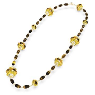 Somnia 项链, 咖啡色, 镀金色调 - Swarovski, 5600794