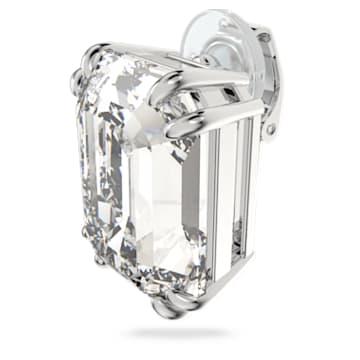 Boucle d'oreille à clipper Mesmera, Mono, Cristal taille octogonale, Blanc, Métal rhodié - Swarovski, 5600860