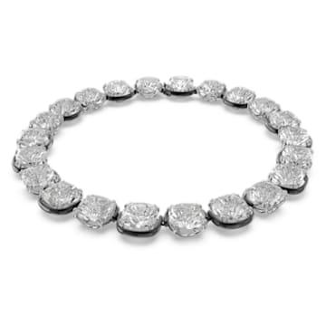 Choker Harmonia, Cristale cu tăietură perniță, Alb, Finisaj metalic mixt - Swarovski, 5600942