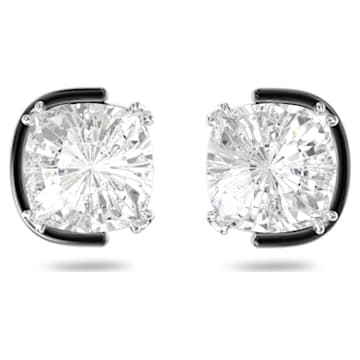 Harmonia earrings, Cushion cut crystals, White, Mixed metal finish - Swarovski, 5600943