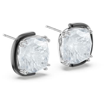 Harmonia Earrings, Cushion cut crystals, White, Mixed metal finish - Swarovski, 5600943
