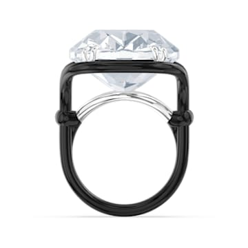 Harmonia ring, Oversized floating crystal, White, Mixed metal finish - Swarovski, 5600946