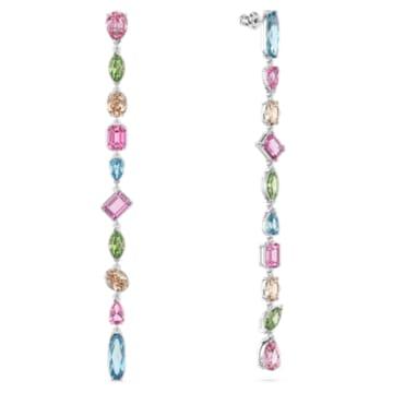 Gema Drop earrings, Multicolored, Rhodium plated - Swarovski, 5600979