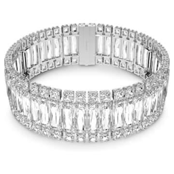 Hyperbola Halsband, Weiss, Rhodiniert - Swarovski, 5601035