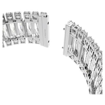 Hyperbola choker, White, Rhodium plated - Swarovski, 5601035