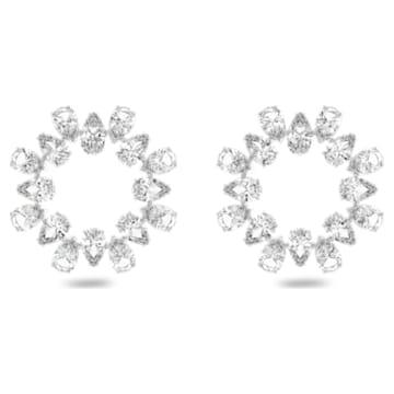 Millenia fülbevalók, Fehér, Ródium bevonattal - Swarovski, 5601509