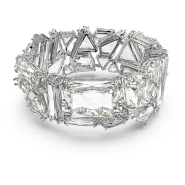 Mesmera 手链, 超大仿水晶, 白色, 镀铑 - Swarovski, 5601530