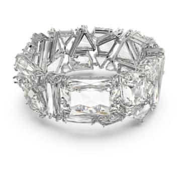 Mesmera Armband, Übergroße Kristalle, Weiss, Rhodiniert - Swarovski, 5601530