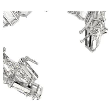 Pulsera Mesmera, Cristales de gran tamaño, Blanco, Baño de rodio - Swarovski, 5601530