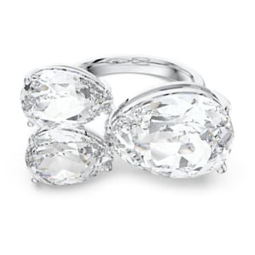 Millenia koktélgyűrű, Körtemetszésű kristályok, Fehér, Ródium bevonattal - Swarovski, 5601568
