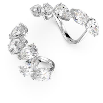 Δαχτυλίδι κοκτέιλ Millenia, Σετ, Λευκό, Επιμετάλλωση ροδίου - Swarovski, 5601569