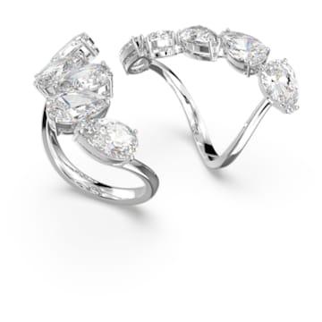 Millenia 戒指, 套装 (2), 白色, 镀铑 - Swarovski, 5601569