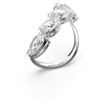 Millenia Cocktail Ring, Set, White, Rhodium plated - Swarovski, 5601569