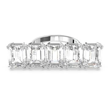 Δαχτυλίδι κοκτέιλ Millenia, Λευκό, Επιμετάλλωση ροδίου - Swarovski, 5601593
