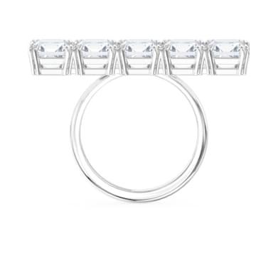 Millenia Cocktail ring, White, Rhodium plated - Swarovski, 5601593