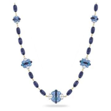 Colar Somnia, Extra compridos, Azul, Lacado a dourado - Swarovski, 5601905