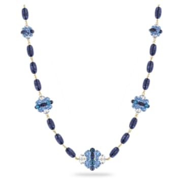 Somnia 项链, 超长, 蓝色, 镀金色调 - Swarovski, 5601905