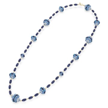 Naszyjnik Somnia, Bardzo długi, Niebieski, Powłoka w odcieniu złota - Swarovski, 5601905