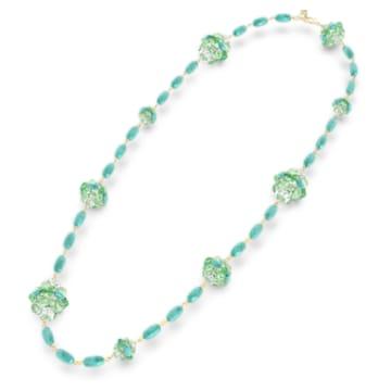 Somnia 項鏈, 綠色, 鍍金色色調 - Swarovski, 5601906