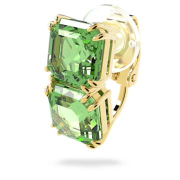 Orecchino a clip Millenia, Singolo, Verde, Placcato color oro - Swarovski, 5602389