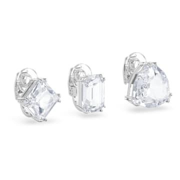 Millenia Clip earring, Single, Set, White, Rhodium plated - Swarovski, 5602413