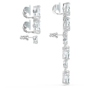 Millenia fülgyűrű, Egyedülálló, Aszimmetrikus, Szett, Fehér, Ródium bevonattal - Swarovski, 5602846