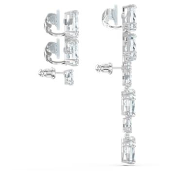 Pendientes Ear Cuff Millenia, Suelto, Asimétrico, Conjunto, Blanco, Baño de rodio - Swarovski, 5602846