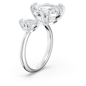 Millenia 开口戒指, 白色, 镀铑 - Swarovski, 5602847