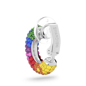Tigris ear cuff, Multicolored, Rhodium plated - Swarovski, 5604950