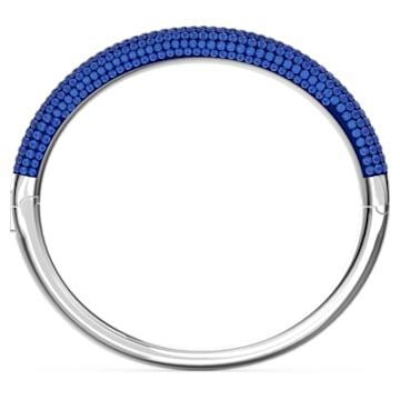 Tigris bangle, Blue, Rhodium plated - Swarovski, 5604951