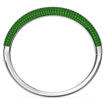 Tigris bangle, Green, Rhodium plated - Swarovski, 5604952