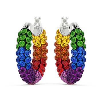 Anneaux d'oreilles Tigris, Multicolore, Métal rhodié - Swarovski, 5604958