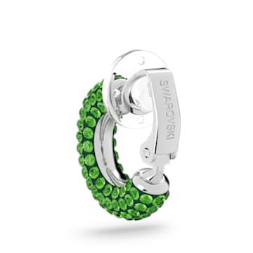 Orecchino a clip Tigris, Verde, Placcato rodio - Swarovski, 5604959
