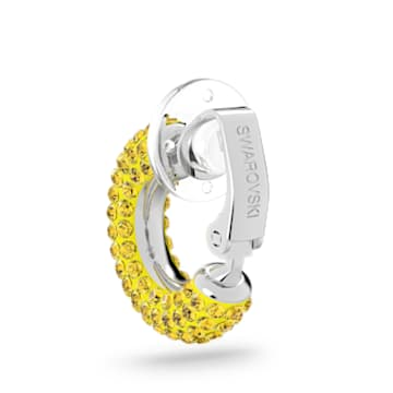 Tigris 耳骨夾, 單個, 黃色, 鍍白金色 - Swarovski, 5604960