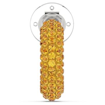 Tigris 耳骨夹, 单个, 黄色, 镀铑 - Swarovski, 5604960